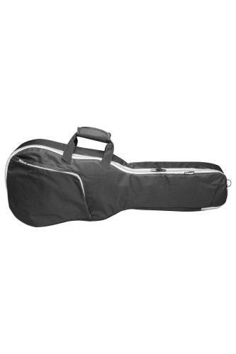 Basic series padded water repellent nylon bag for 1/2 folk, western or dreadnought guitar