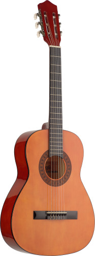 3/4 natural-coloured classical guitar with basswood top