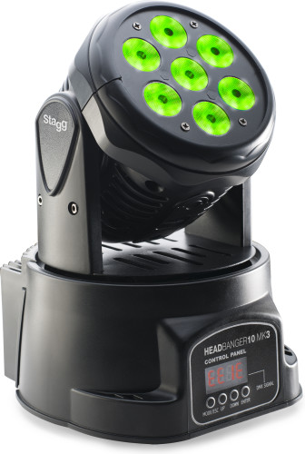 HeadBanger 10 LED moving head with 7 x 10-watt RGBW 4-in-1 LED