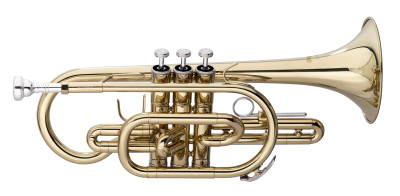 Bb-Cornet, ML-bore, Brass body material