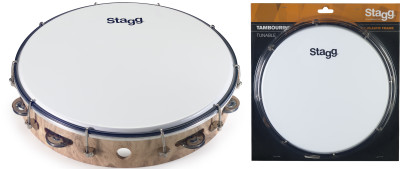 "12"" Tuneable plastic tambourine with 1 row of jingles"