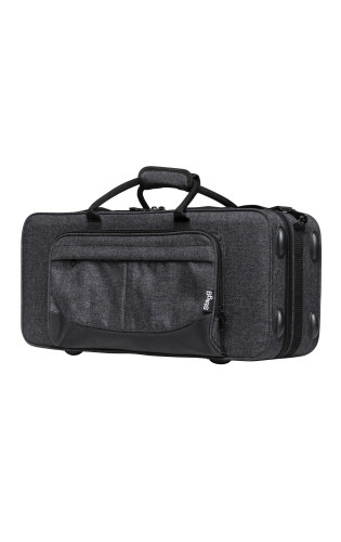 Soft case for alto saxophone, grey