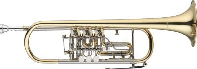 Bb Trompete mit Drehventilen, Messingkorpus, Ausgleichsmechanik