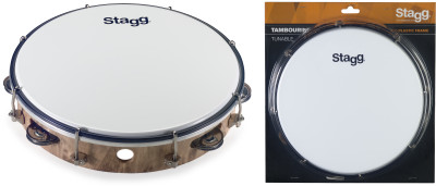 "10"" Tuneable plastic tambourine with 1 row of jingles"