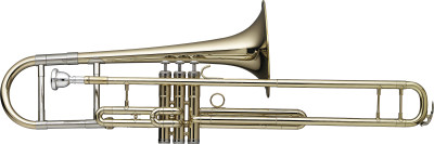 Trombone alto en Mib à 3 pistons, pistons en acier inoxydable