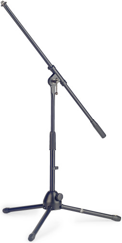 Low profile 2-section microphone stand with folding legs
