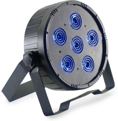 Platte ECOPAR 6 spotlight met 6 x 12-watt RGBWAUV (6 in 1) LED
