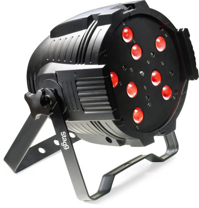 LED spotlight with 8x 8W RGBW 4-in-1 LEDs+motorized zoom-EU+UK power cord