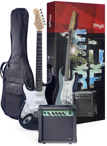 Surfstar electric guitar + amplifier package, lefthanded model