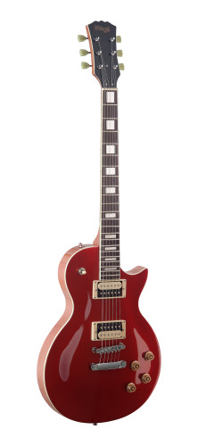 L Series, Zebra electric guitar with solid Mahogany body & Maple archtop
